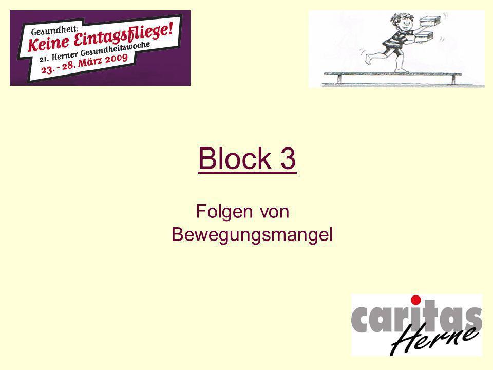 Block 3 Folgen von Bewegungsmangel