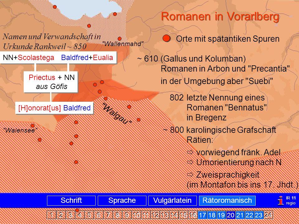 Romanen in Vlbg.