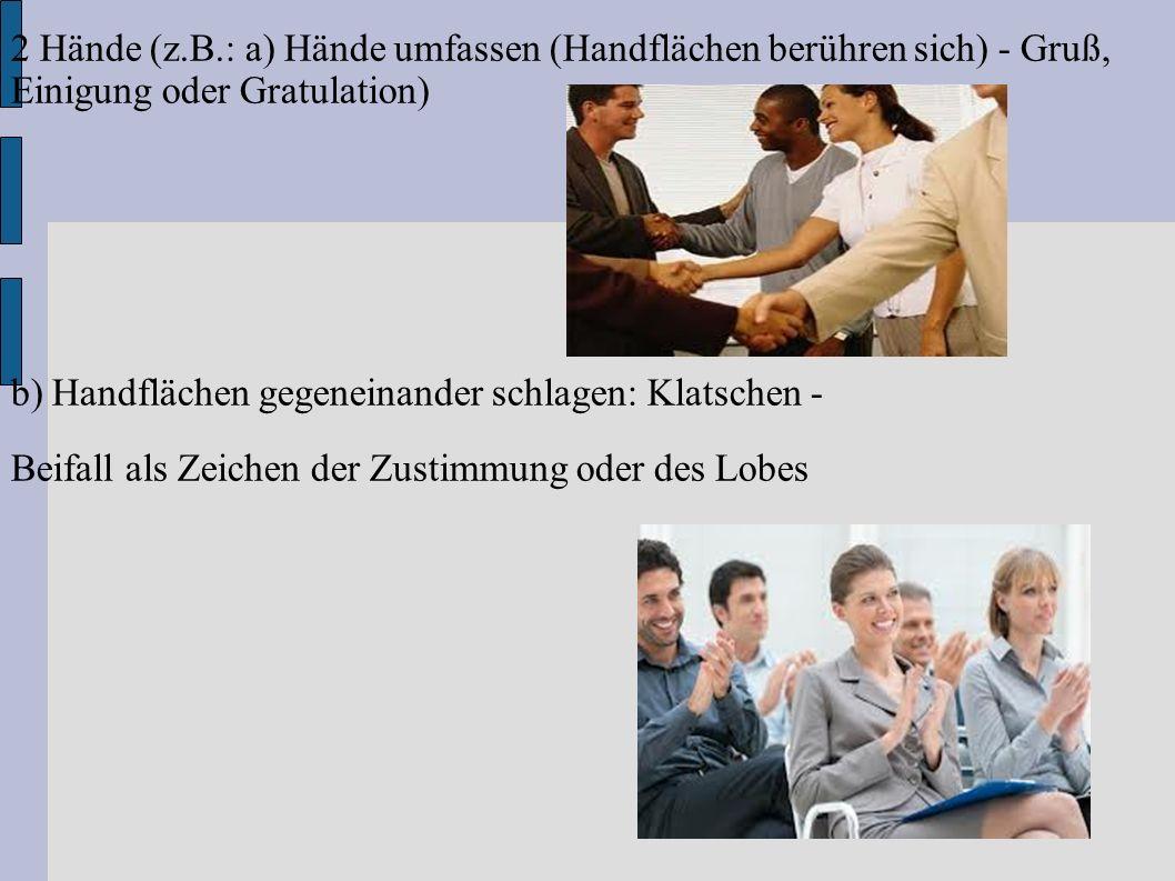 3 Arme und Schulter 3.1 Einarmig (z.B.: a) Arm hochheben und vor sich rechts und links schwenken (Steigerung: mit Armen): Winken Grußhandlung.