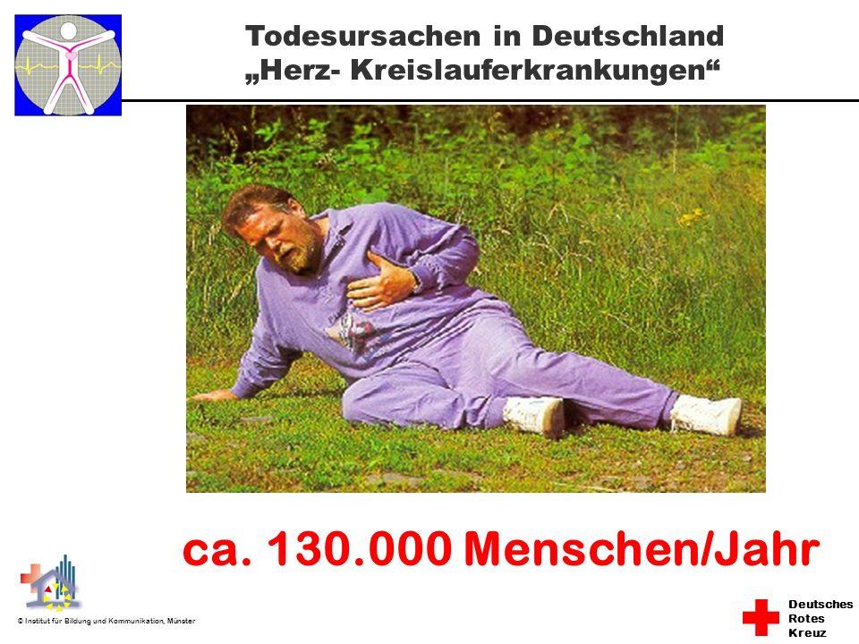 Deutsches Rotes Kreuz © Institut für Bildung und Kommunikation, Münster ca. 130.000 Menschen/Jahr Todesursachen in Deutschland Herz- Kreislauferkranku