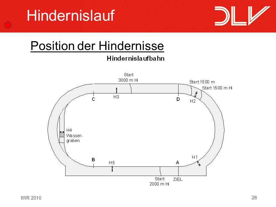26 IWR 2010 Hindernislauf Position der Hindernisse