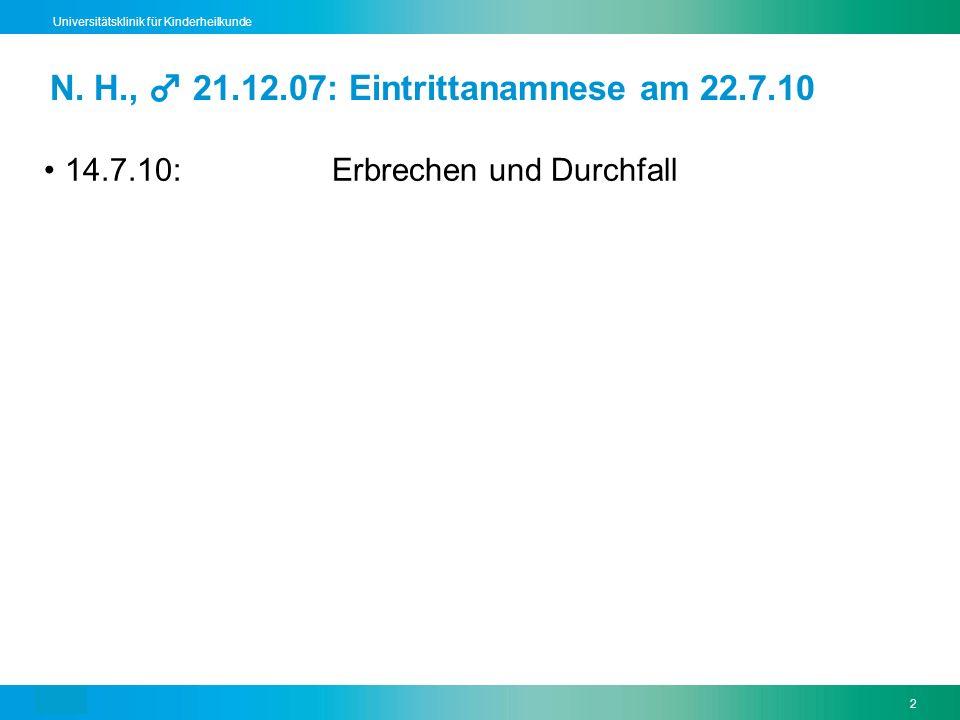 Text13 Universitätsklinik für Kinderheilkunde Teaching point 2: Fieber 1.Definition und Messung 38,5°C Faustregel: Δ ~ 0,5°C 2.Fieber: gut oder schlecht.