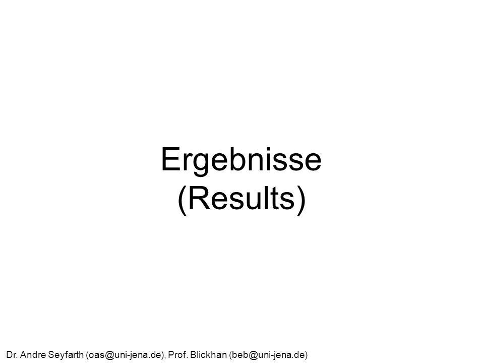 Dr. Andre Seyfarth (oas@uni-jena.de), Prof. Blickhan (beb@uni-jena.de) Ergebnisse (Results)