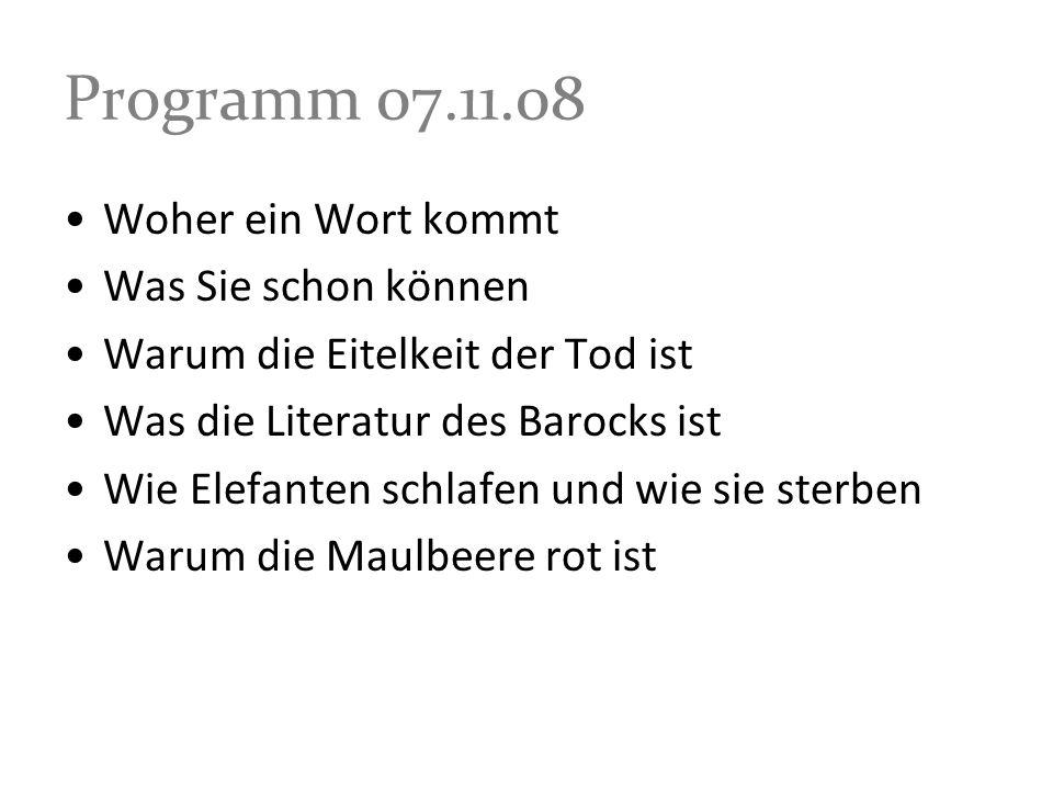 Christian Hofmann von Hofmannswaldau (1617-1679) Die Welt WAs ist die Welt / und ihr berühmtes gläntzen.