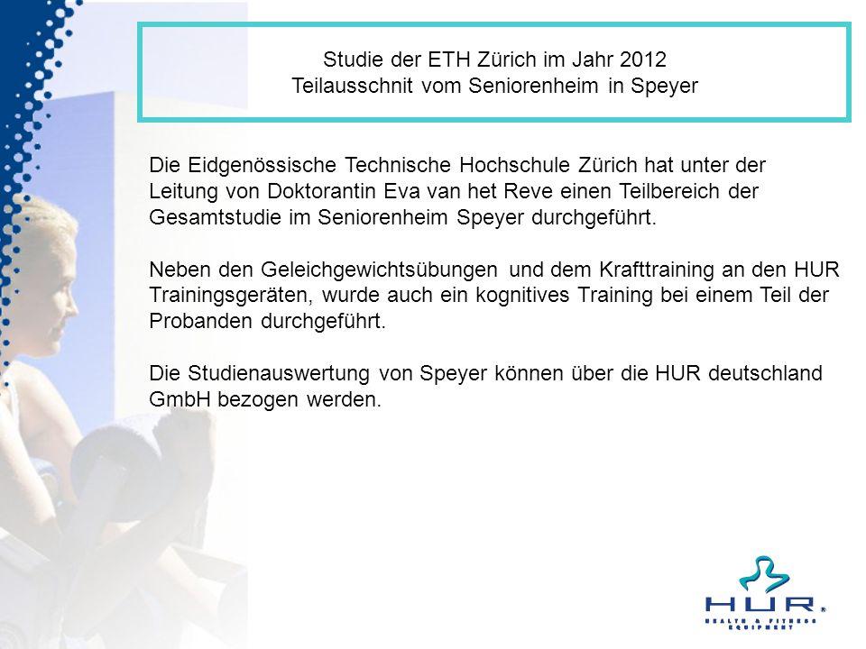 Studie der ETH Zürich im Jahr 2012 Teilausschnit vom Seniorenheim in Speyer Die Eidgenössische Technische Hochschule Zürich hat unter der Leitung von
