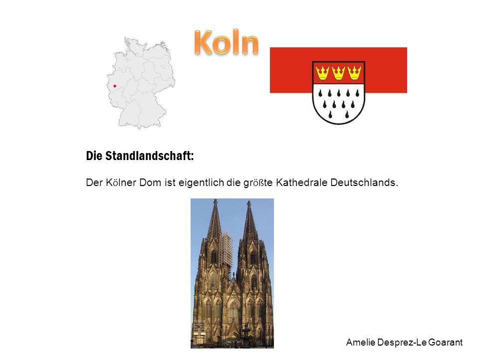 Die Standlandschaft: Der K ö lner Dom ist eigentlich die gr öß te Kathedrale Deutschlands.