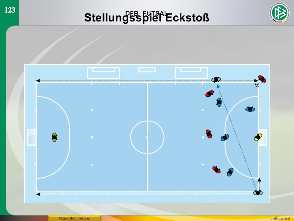 DFB FUTSAL Präsentation beenden Stellungsspiel Stellungsspiel Eckstoß