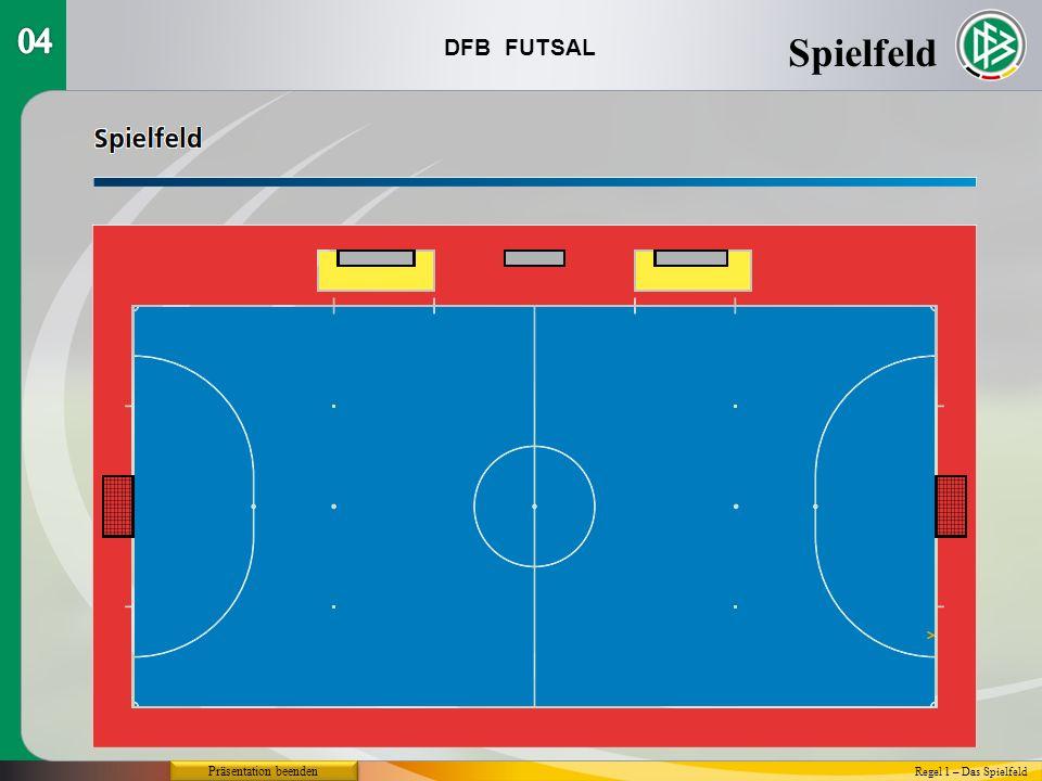 DFB FUTSAL Spielfeld Regel 1 – Das Spielfeld Präsentation beenden