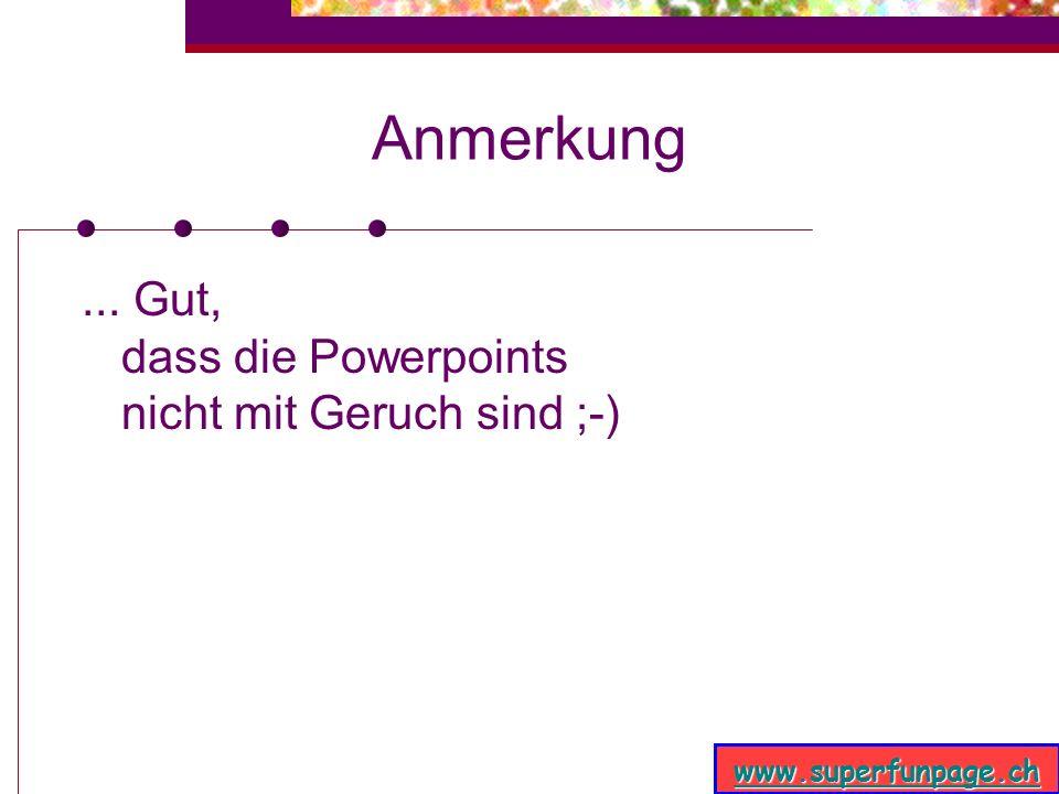 www.superfunpage.ch Zu seinem Entsetzen......