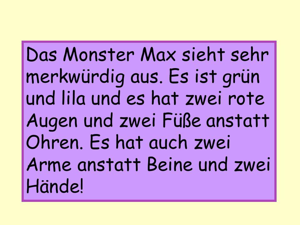 Das Monster Max sieht sehr merkwürdig aus.