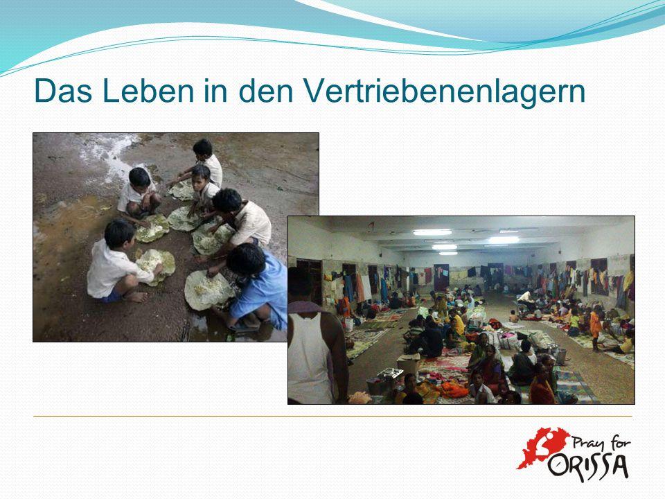 Das Leben in den Vertriebenenlagern