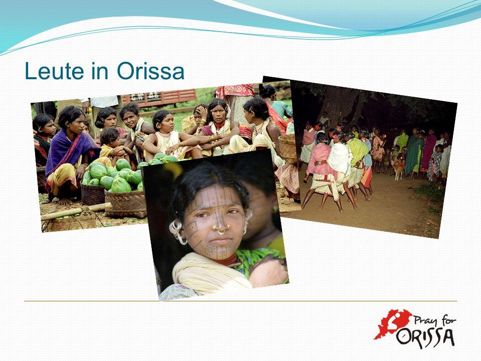 Leute in Orissa