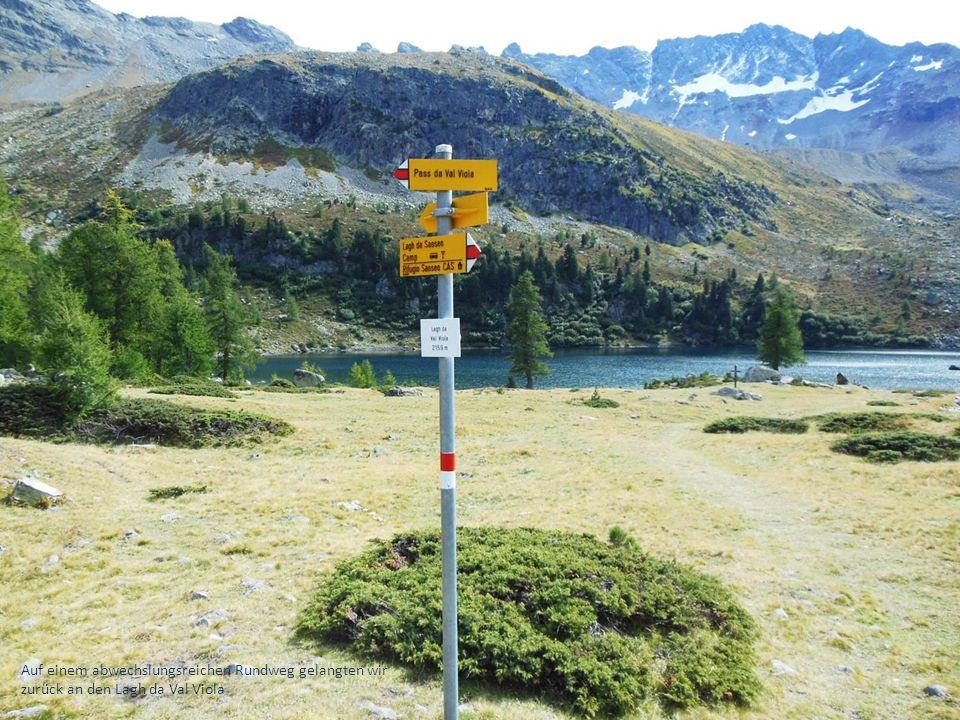 Auf einem abwechslungsreichen Rundweg gelangten wir zurück an den Lagh da Val Viola