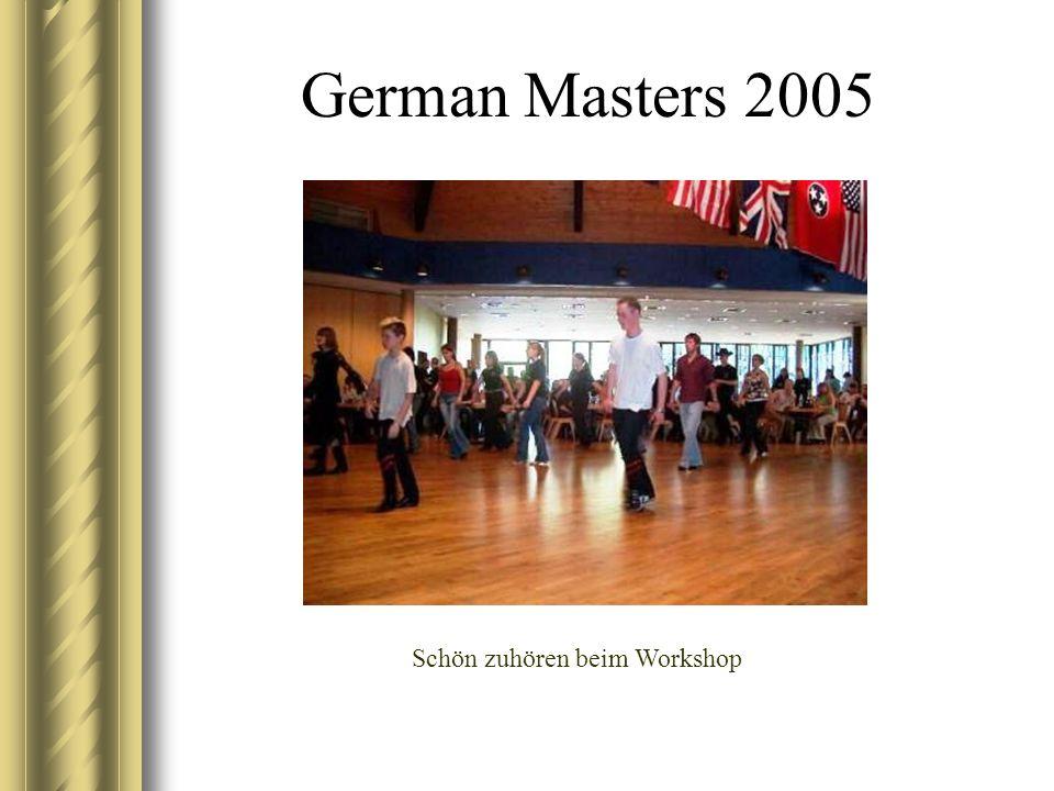 German Masters 2005 Schön zuhören beim Workshop