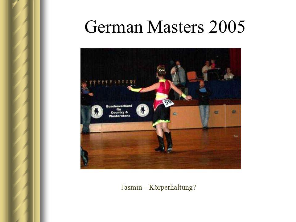 German Masters 2005 Jasmin – Körperhaltung?