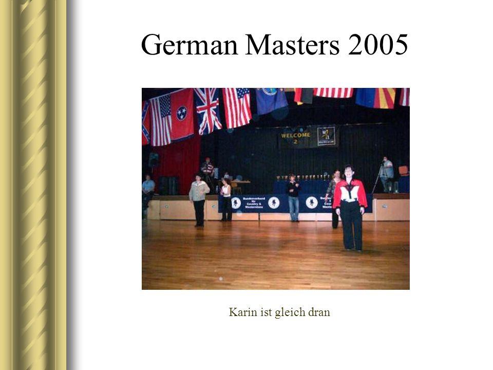 German Masters 2005 Karin ist gleich dran
