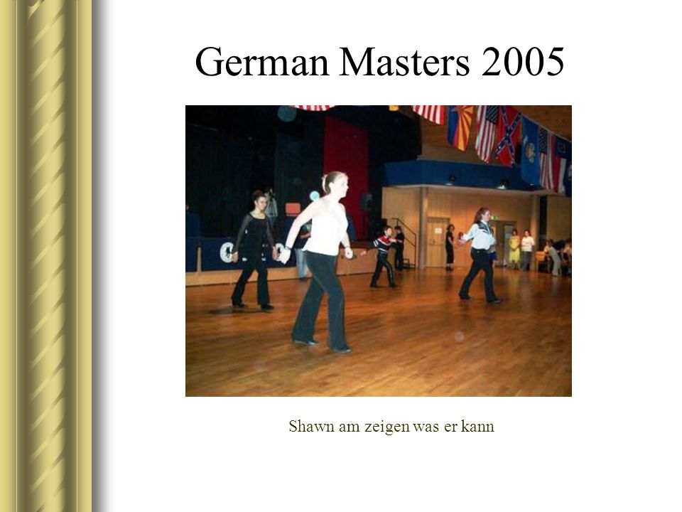 German Masters 2005 Shawn am zeigen was er kann