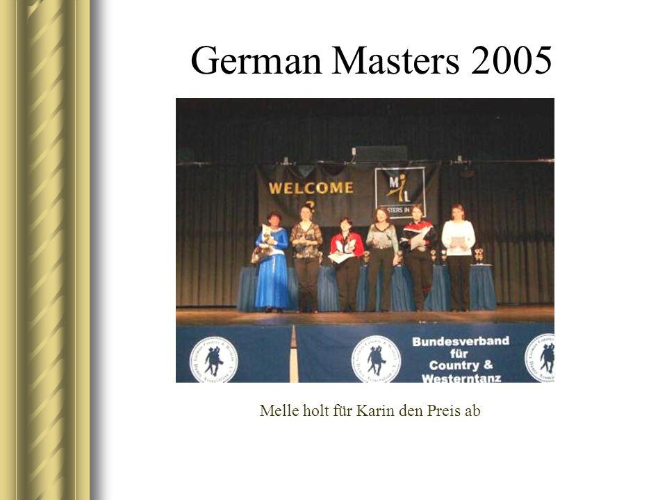 German Masters 2005 Melle holt für Karin den Preis ab