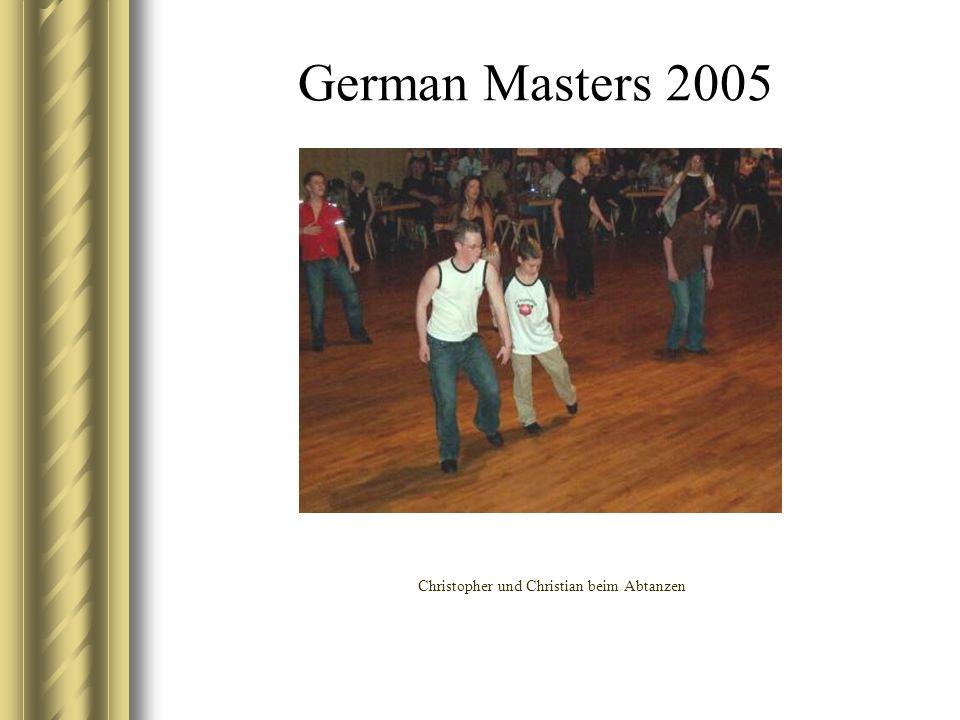 German Masters 2005 Christopher und Christian beim Abtanzen