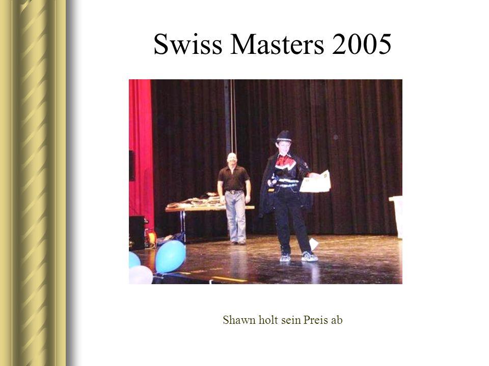 Swiss Masters 2005 Shawn holt sein Preis ab