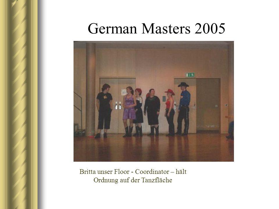 German Masters 2005 Britta unser Floor - Coordinator – hält Ordnung auf der Tanzfläche