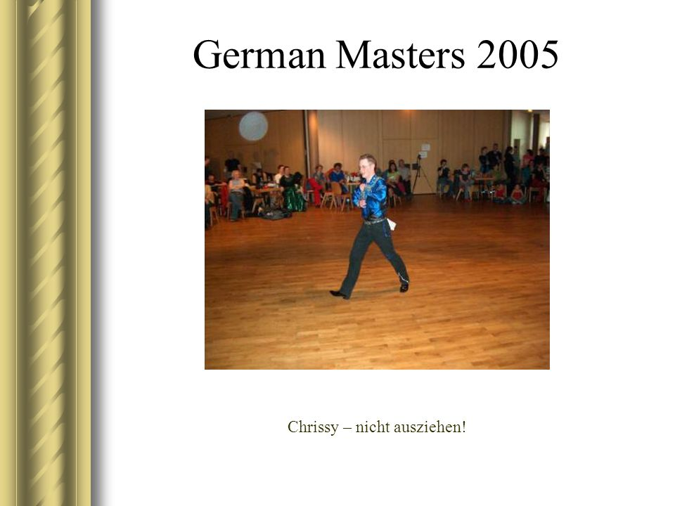 German Masters 2005 Christian wartet auf seinen Einsatz