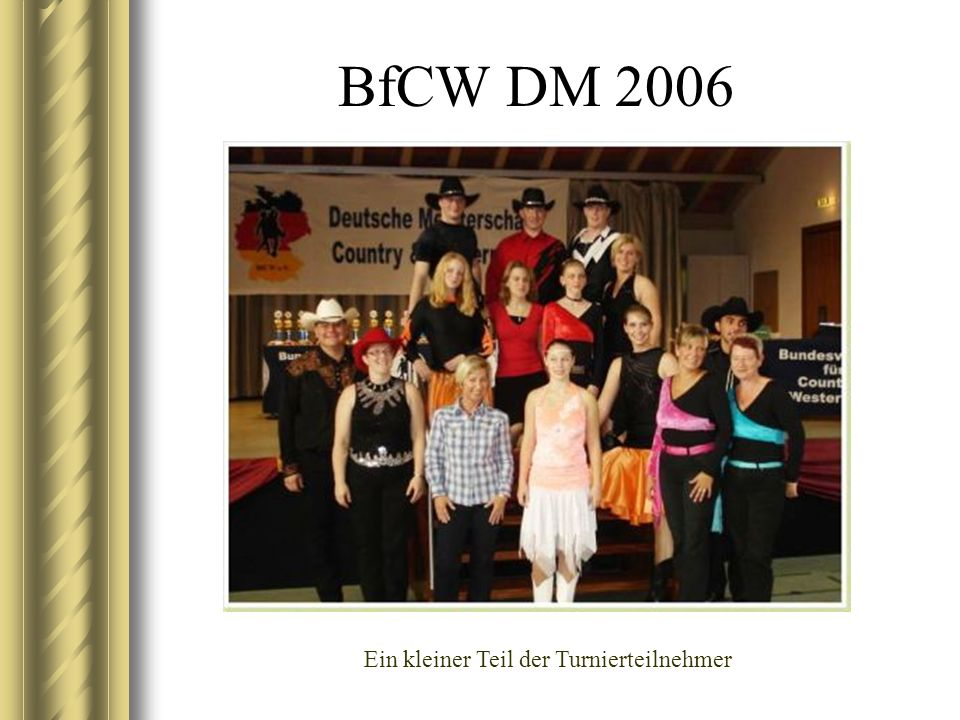 BfCW DM 2006 Aus dem Abendprogramm - Standarttänzer