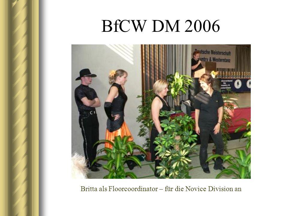 BfCW DM 2006 Britta als Floorcoordinator – für die Novice Division an