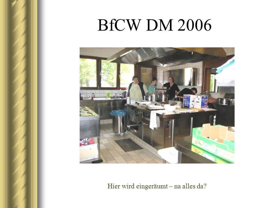 BfCW DM 2006 Der schönste Platz ist immer hinter der Theke