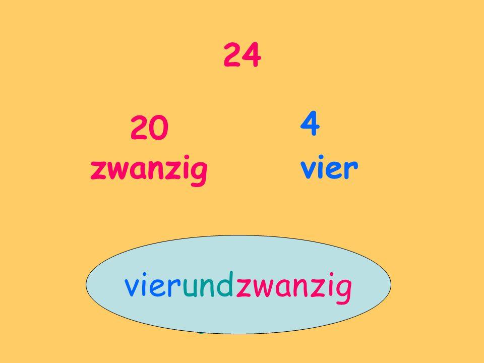 24 20 zwanzig 4 vier und vierundzwanzig