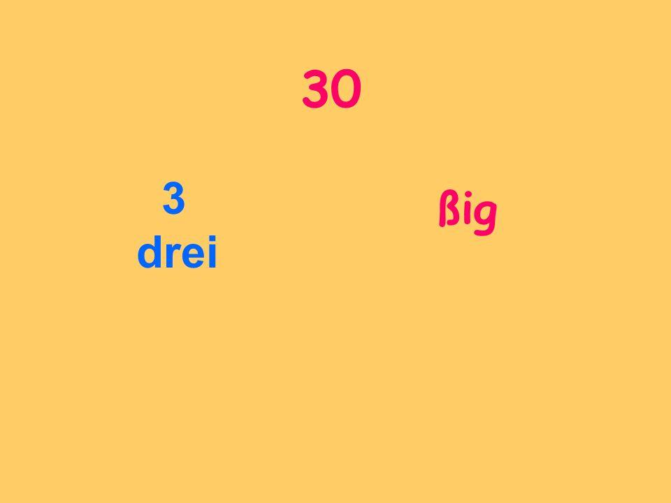 30 3 drei ßig