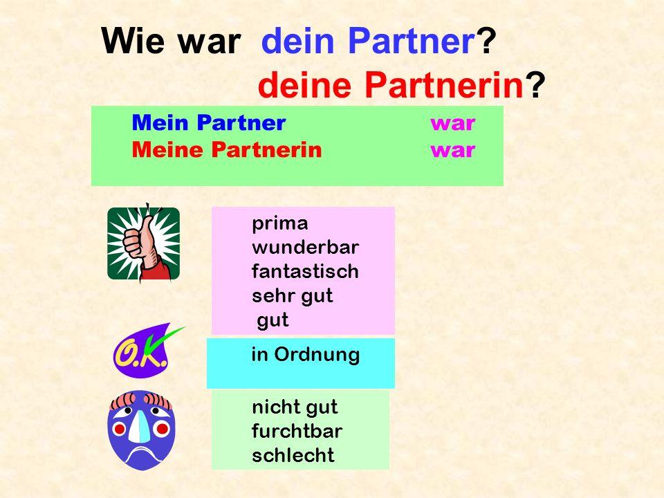 Partnerarbeit A: eins, zwei, drei, Los.B: ah, bay, tsay … A: schneller langsamer Stop.