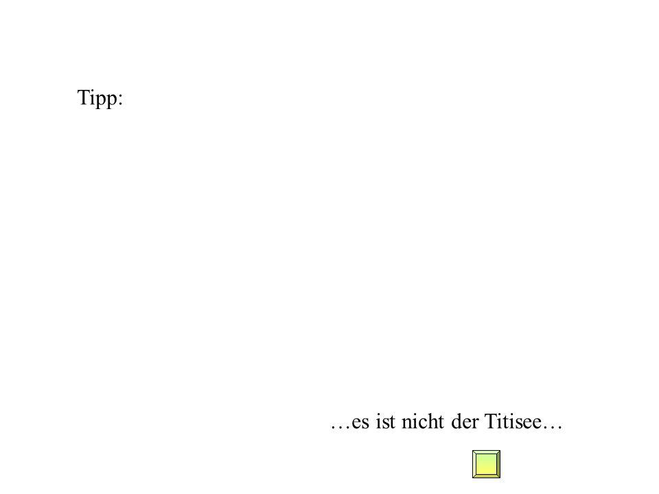 Tipp: …es ist nicht der Titisee…