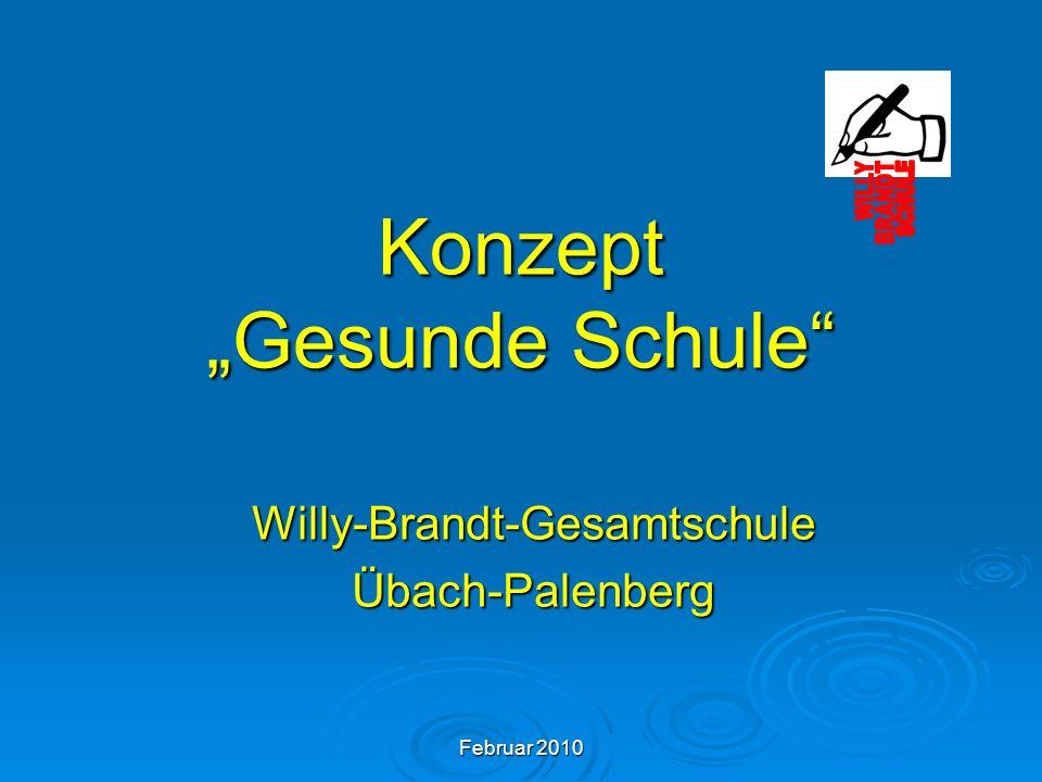 Februar 2010 Konzept Gesunde Schule Willy-Brandt-GesamtschuleÜbach-Palenberg