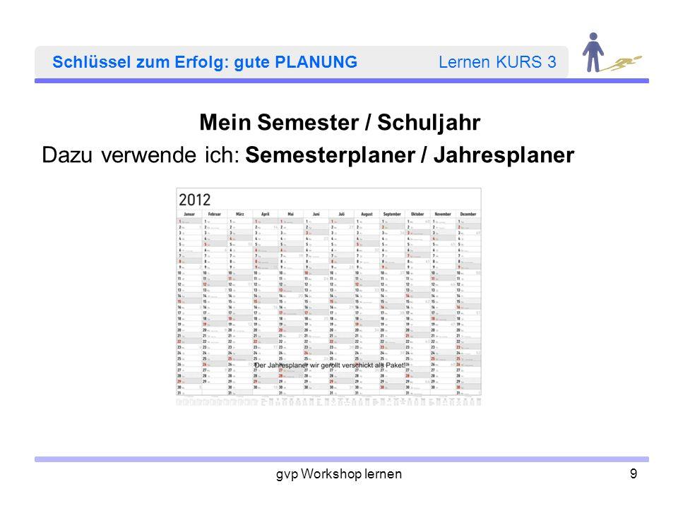 gvp Workshop lernen20 HEFTE und MAPPEN Lernen KURS 3 Ränder frei lassen (oben, unten, links und rechts) –übersichtlich –Platz für Anmerkungen wie: Alles klar.