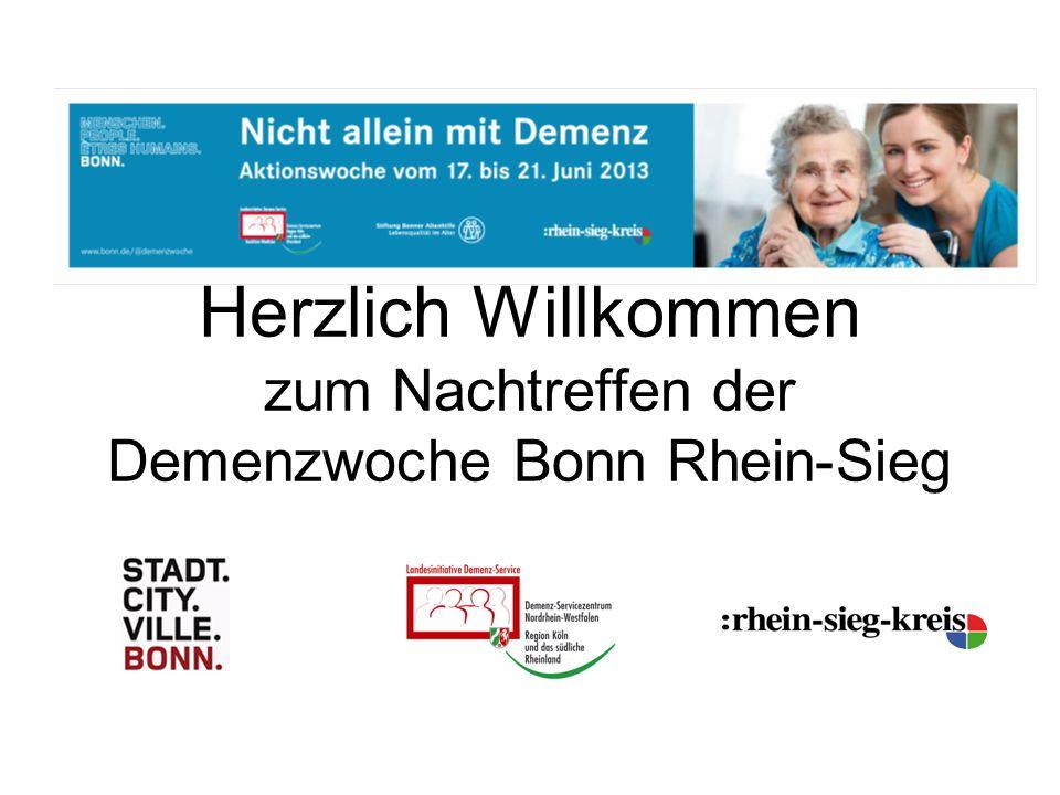 Herzlich Willkommen zum Nachtreffen der Demenzwoche Bonn Rhein-Sieg