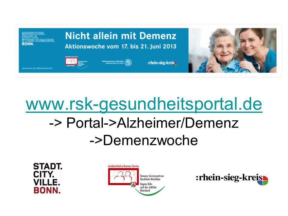 www.rsk-gesundheitsportal.de www.rsk-gesundheitsportal.de -> Portal->Alzheimer/Demenz ->Demenzwoche