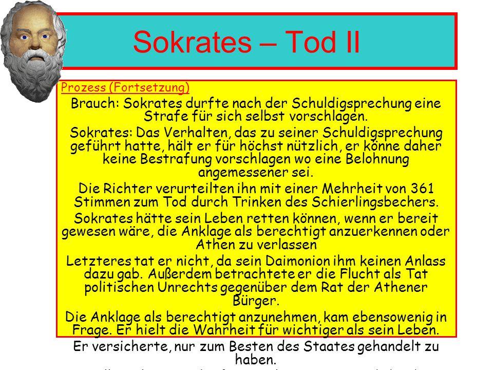 Sokrates – Zitate Erkenne dich selbst : ein Spruch über dem Eingang des Apollon-Tempel in Delphi Der Mensch handelt schlecht, wenn er das Gute nicht wei ß.