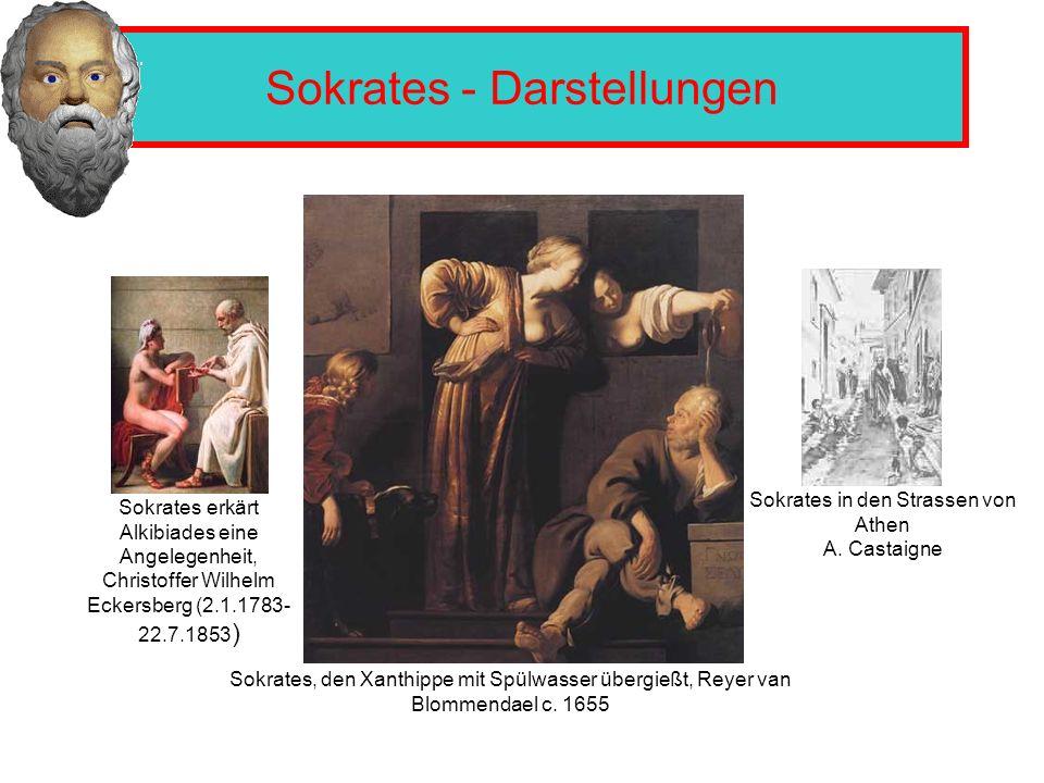 Sokrates - Darstellungen Sokrates erkärt Alkibiades eine Angelegenheit, Christoffer Wilhelm Eckersberg (2.1.1783- 22.7.1853 ) Sokrates in den Strassen von Athen A.