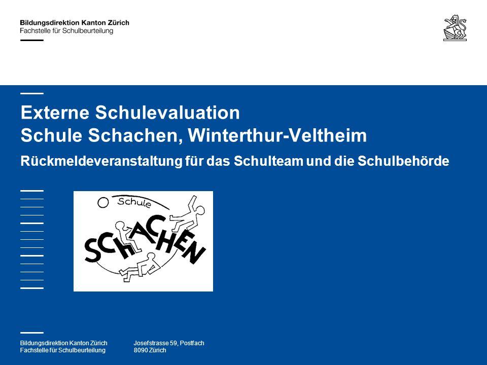 Bildungsdirektion Kanton Zürich Fachstelle für Schulbeurteilung Josefstrasse 59, Postfach 8090 Zürich Externe Schulevaluation Schule Schachen, Wintert