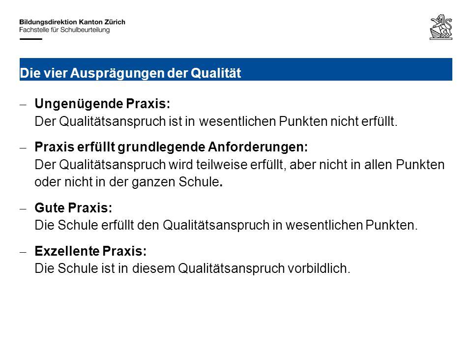 Bildungsdirektion Kanton Zürich Fachstelle für Schulbeurteilung Ausstellungsstrasse 80, Postfach 8090 Zürich Ausgewiesene Stärken Ihrer Schule.