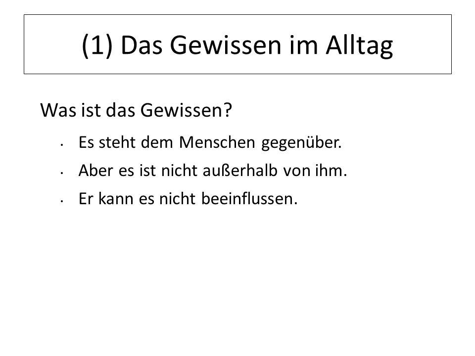 12.07.11 (2) Philosophische Positionen Kritische Positionen zum Gewissen: Friedrich Nietzsche (1844-1900) Gewissen von Autoritäten gebunden Das Gewissen ist eine Gefahr für die Selbstbestimmung des Menschen.