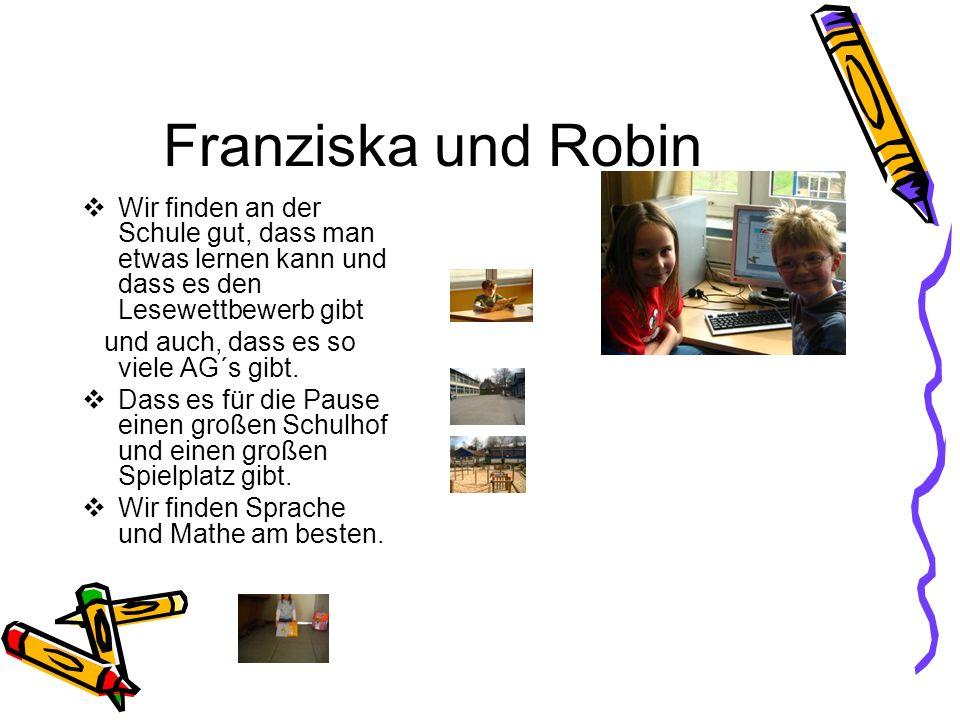 Schule ist lustig und cool ist Erlebnis pur und macht einfach Spaß!!! Justin & Thomas in der Computer AG In unser Schule finden wir die AG´s und den L