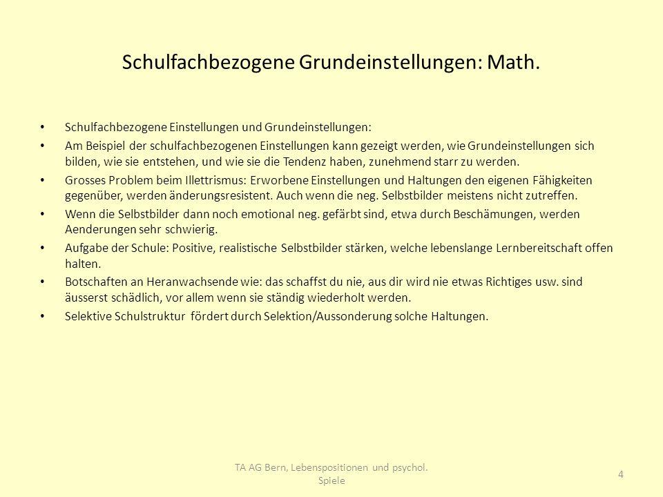 Schulfachbezogene Grundeinstellungen: Math. Schulfachbezogene Einstellungen und Grundeinstellungen: Am Beispiel der schulfachbezogenen Einstellungen k