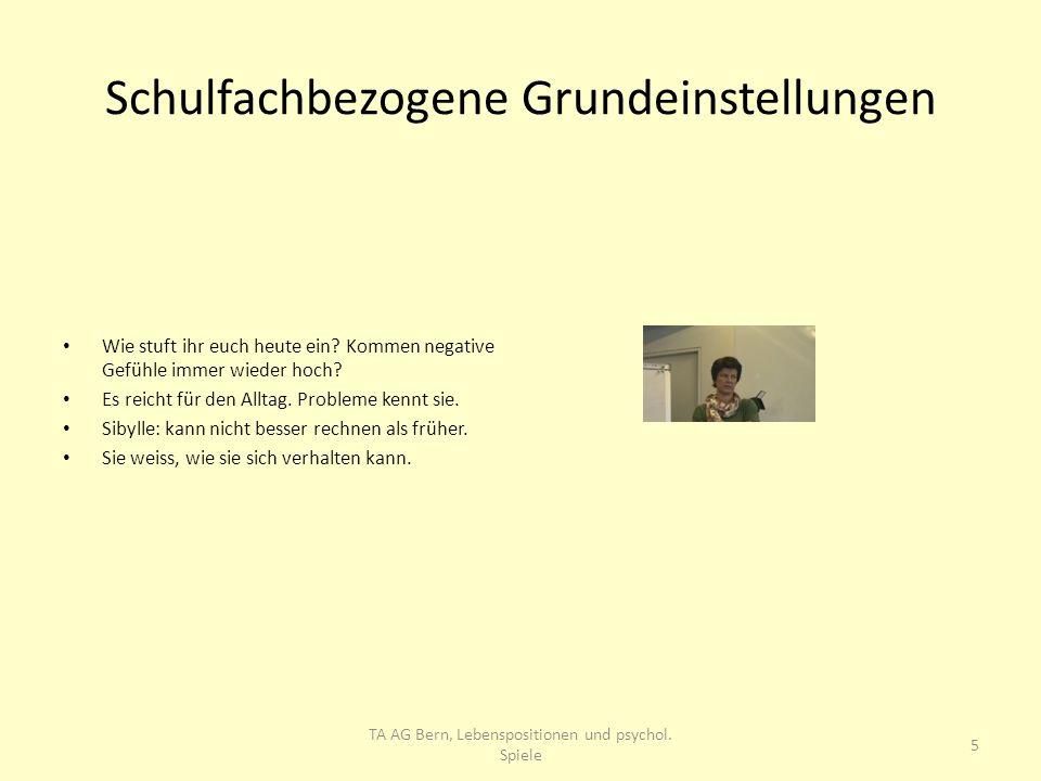 Schulfachbezogene Grundeinstellungen Französisch: Homogenere Gruppe.