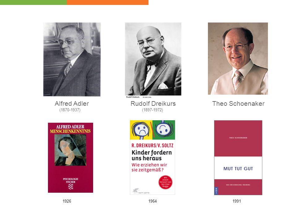 Alfred Adler (1870-1937) 1926 Rudolf Dreikurs (1897-1972) 1964 Theo Schoenaker 1991