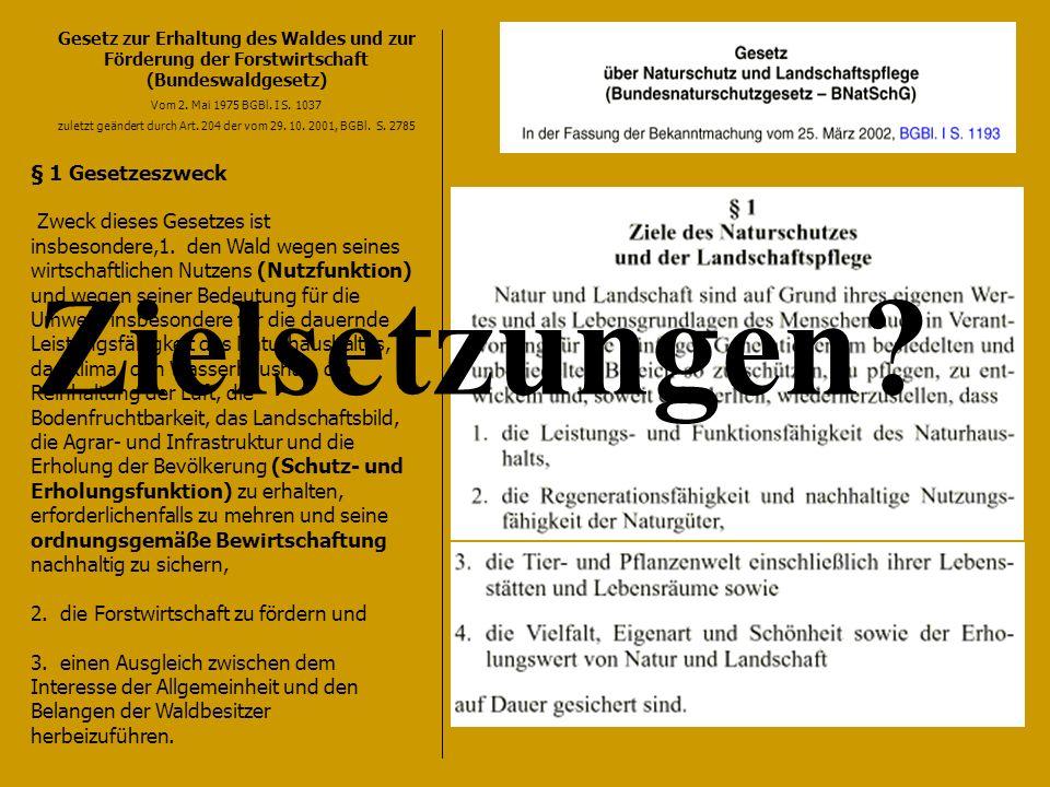 Gesetz zur Erhaltung des Waldes und zur Förderung der Forstwirtschaft (Bundeswaldgesetz) Vom 2.