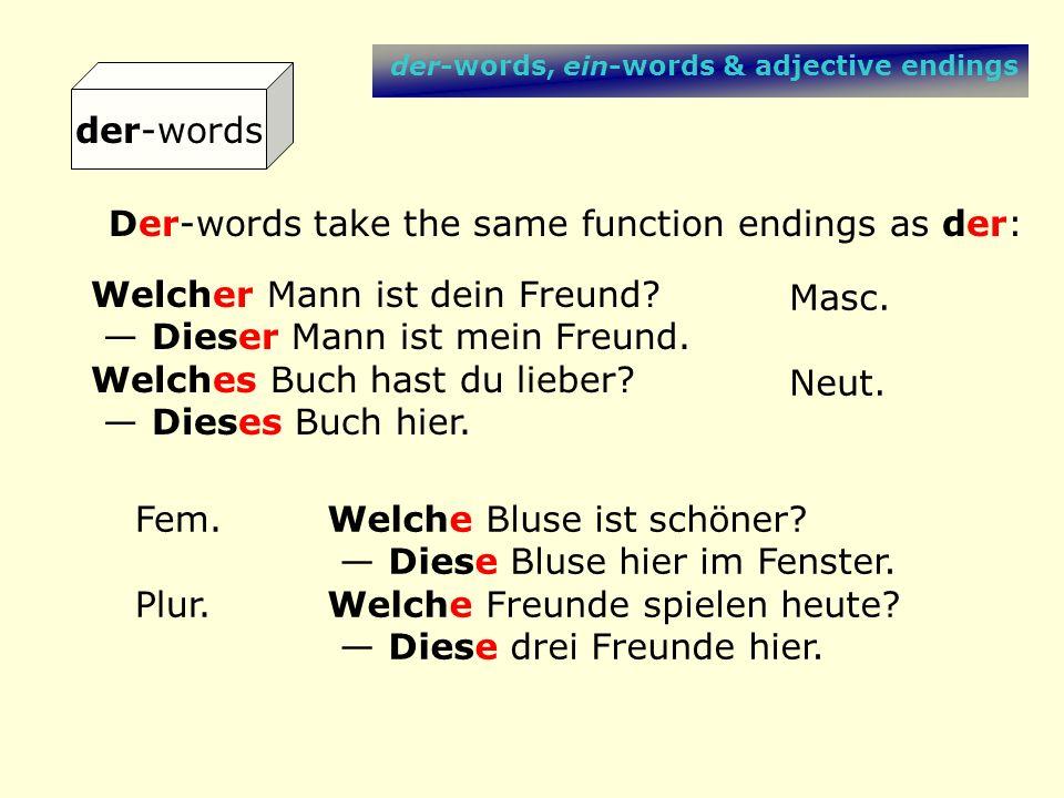 der-words, ein-words & adjective endings adj.