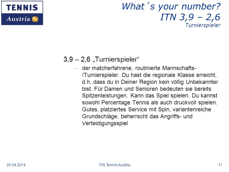 20.04.2014ITN Tennis Austria11 What´s your number.