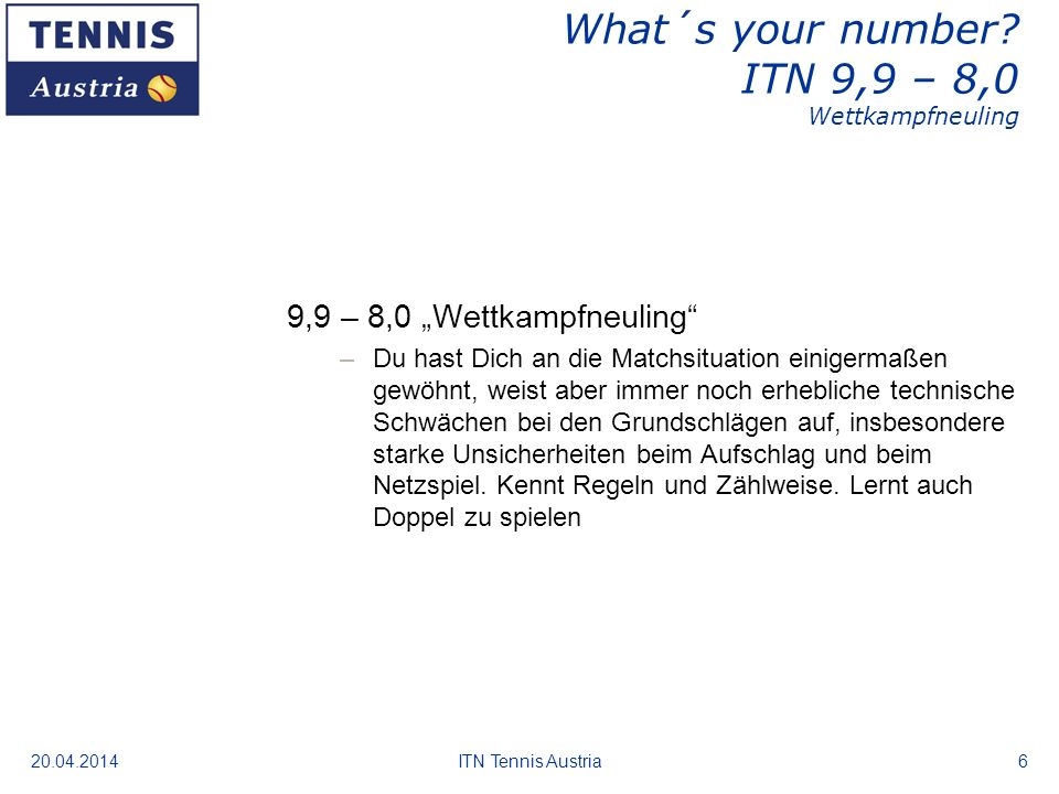 20.04.2014ITN Tennis Austria7 What´s your number.